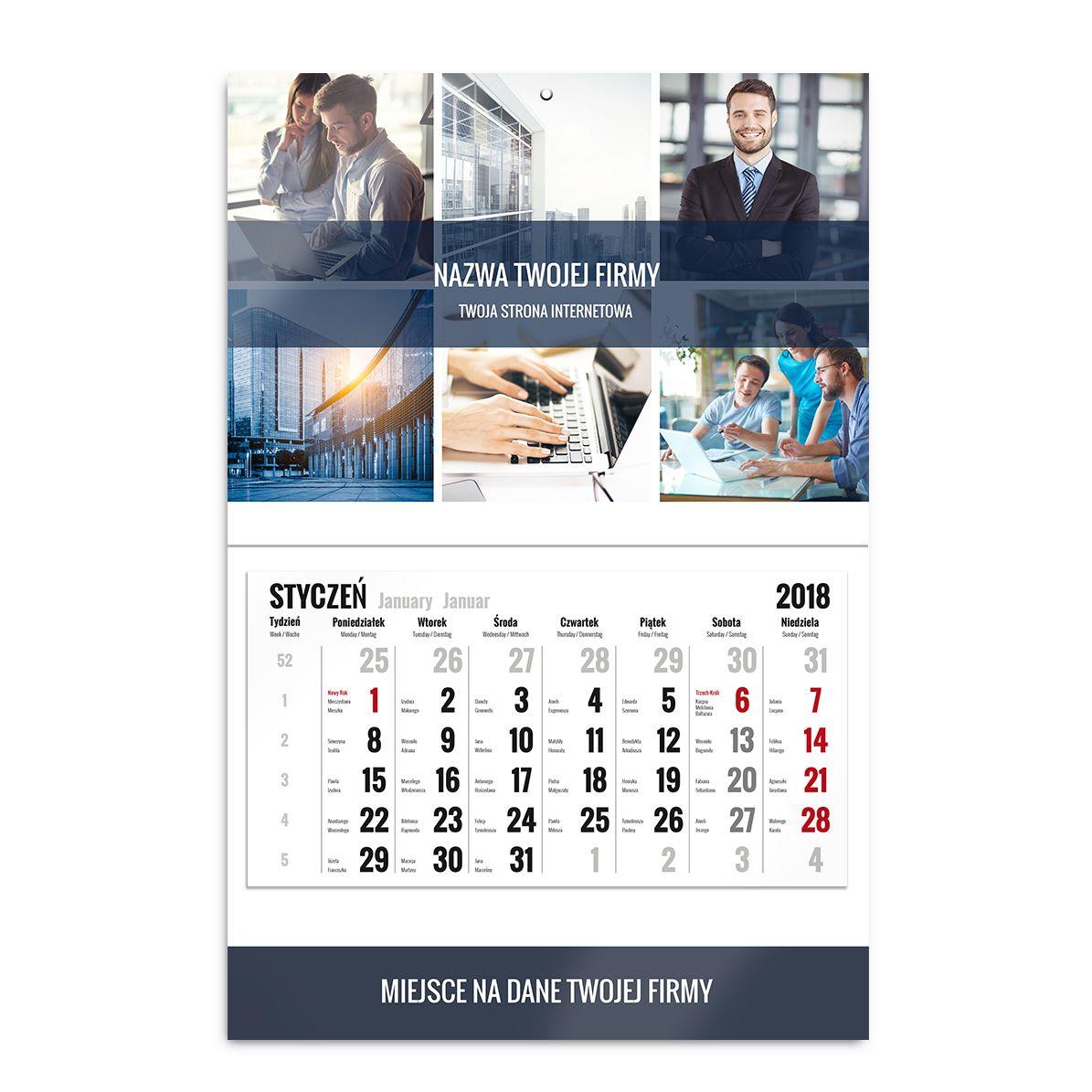 Kalendarz jednodzielny biznesowy