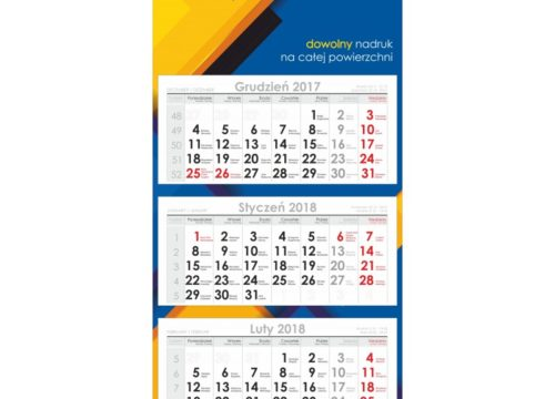 kalendarz trójdzielny ekonomiczny